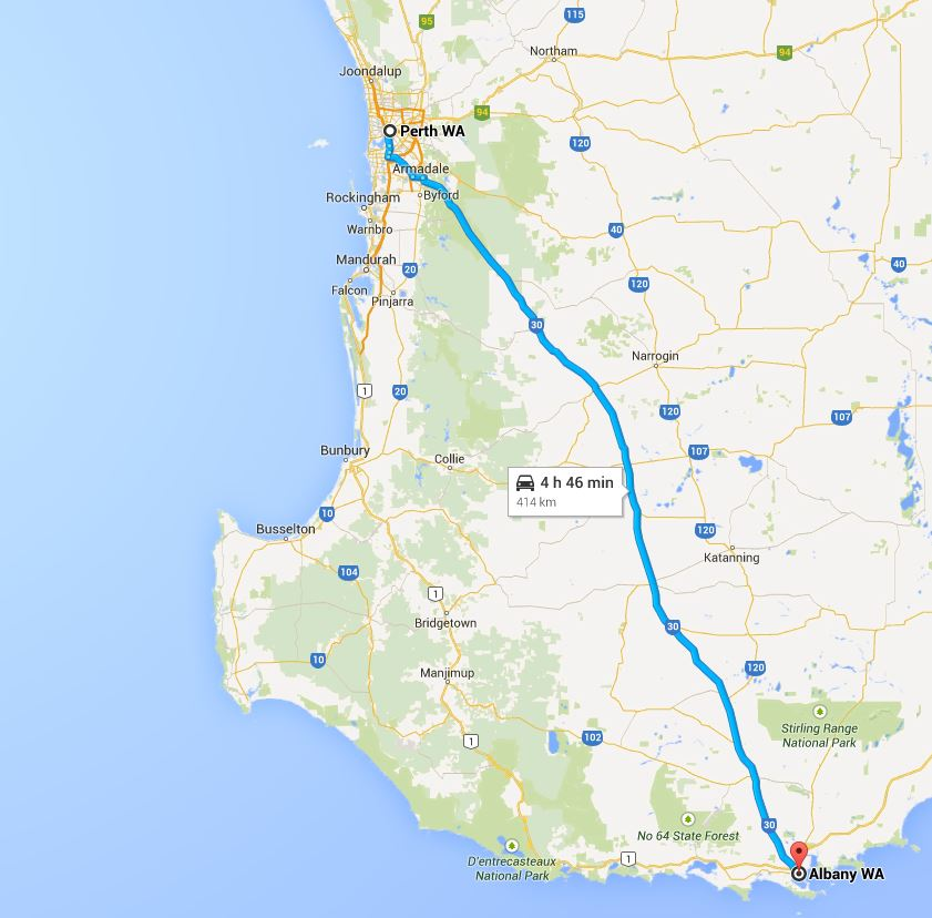 Perth to Albany